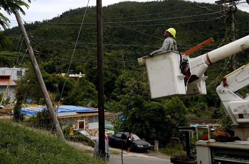 La infraestructura eléctrica de Puerto Rico preparada para un huracán