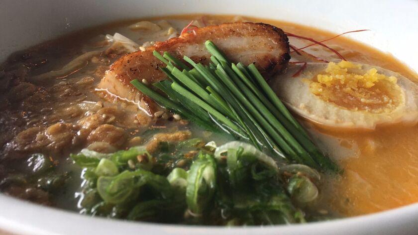 Tajima Ramen creates a symphony of flavors and textures in a bowl.