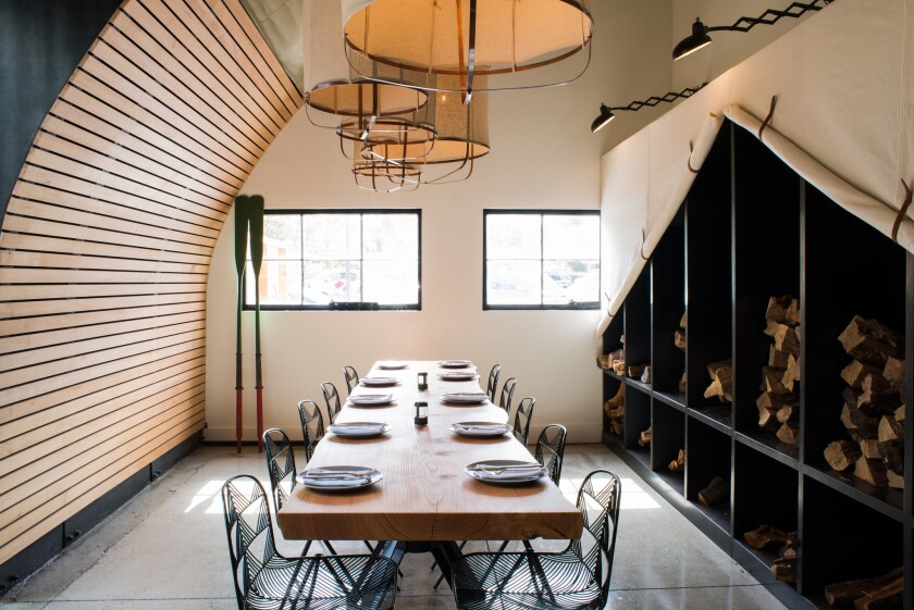 """Campfire restaurant in Carlsbad features a 12-foot hearth named """"Grace"""" where many dishes are cooked over an open fire."""