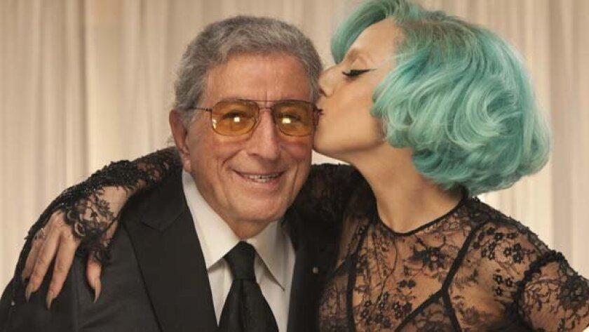 "Tony Bennett counts Lady Gaga among his biggest fans and, on his ""Duets II"" album, most recent collaborators. ""As a young artist, I'm so nervous about sounding good (singing) next to Tony,"" she says."" I have to remember that I have to mean (each word I sing), because he means it, every time."""