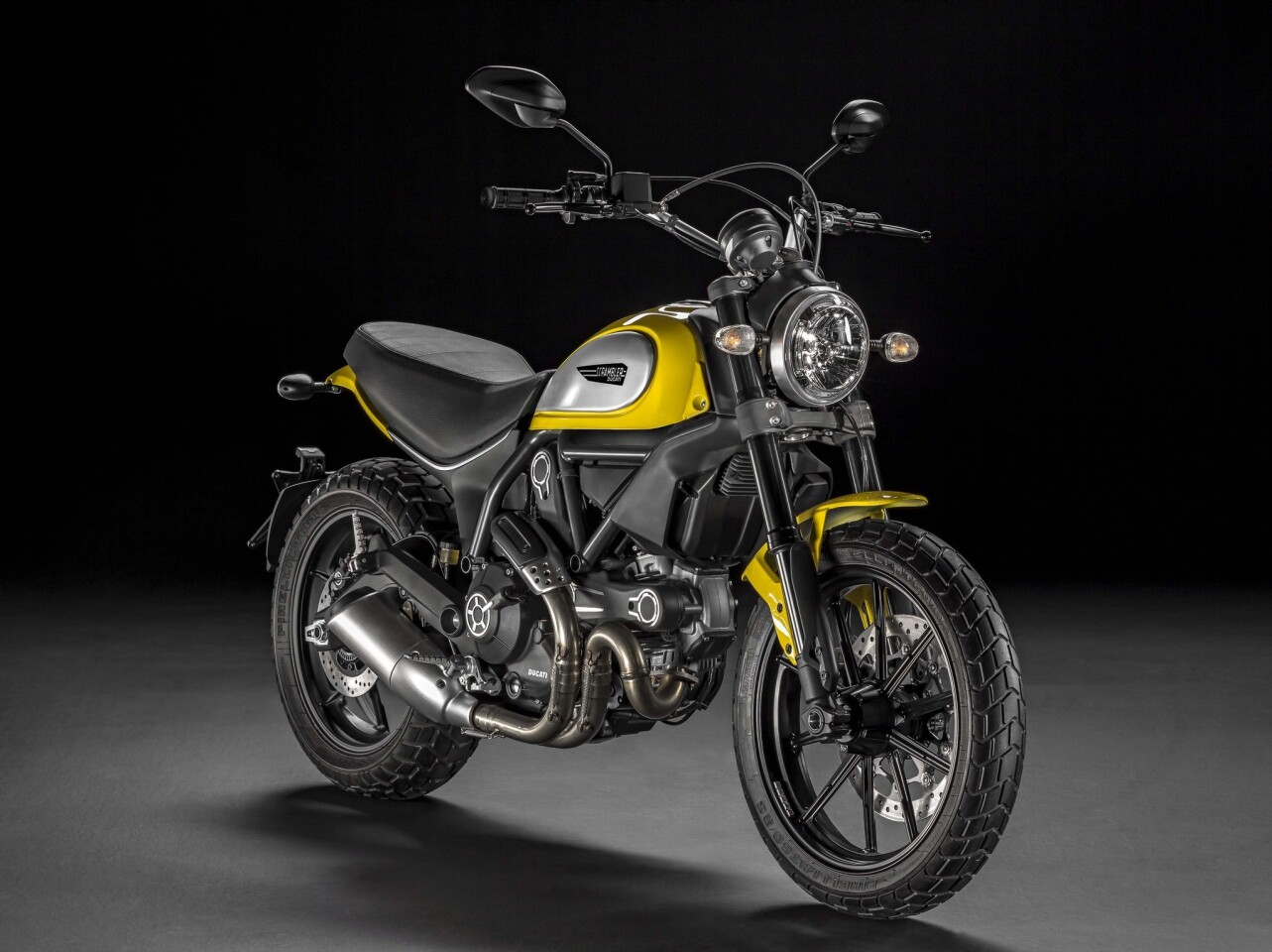 The baseline Icon version of the Scrambler, retailing at under $8500.