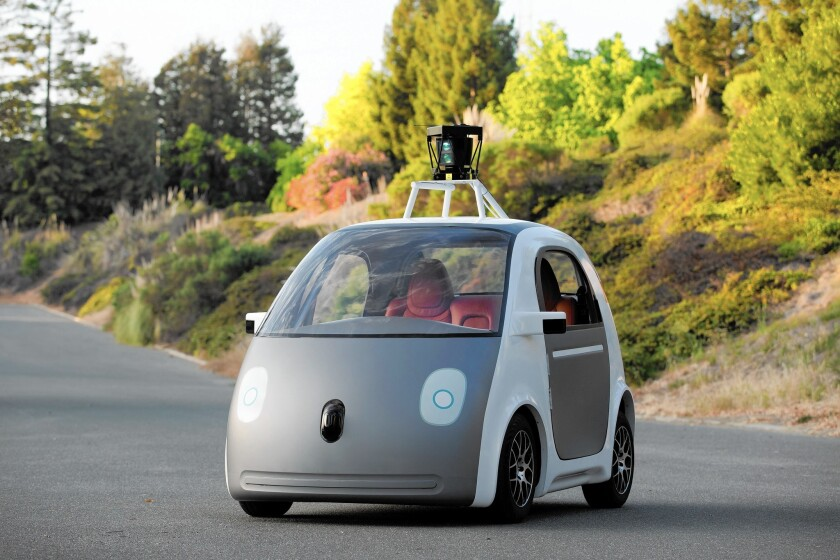 A prototype of a self-driving car made by Google.