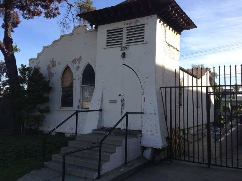 St. Luke's Chapel as it looks today at 30th and Gunn streets in North Park.