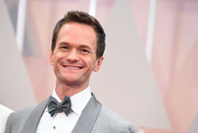 Neil Patrick Harris arrives at the Oscars on Sunday, Feb. 22, 2015, at the Dolby Theatre in Los Angeles. (Photo by Jordan Strauss/Invision/AP)