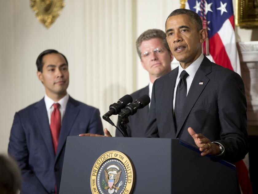 President Obama, Julian Castro, Shaun Donovan