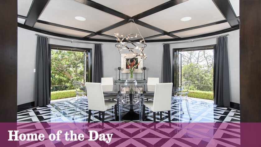 Listed at $3.295 million, the Wallace Neff-designed estate sits on a third an acre with a saline swimming pool and panoramic city views.