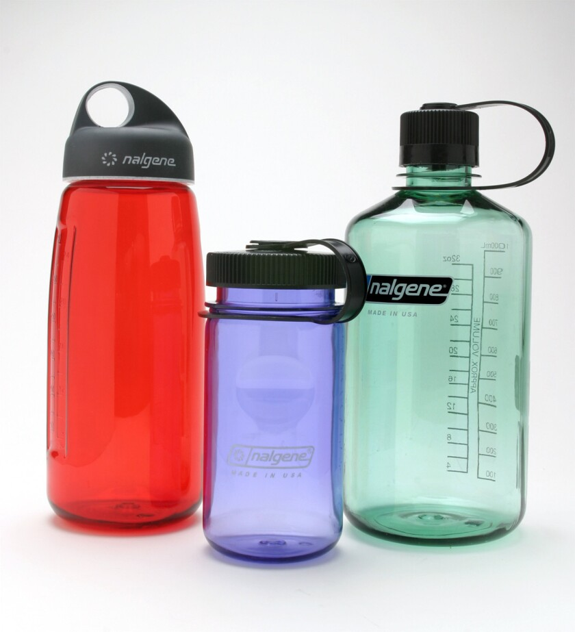 Various types of reusable water bottles on the market.