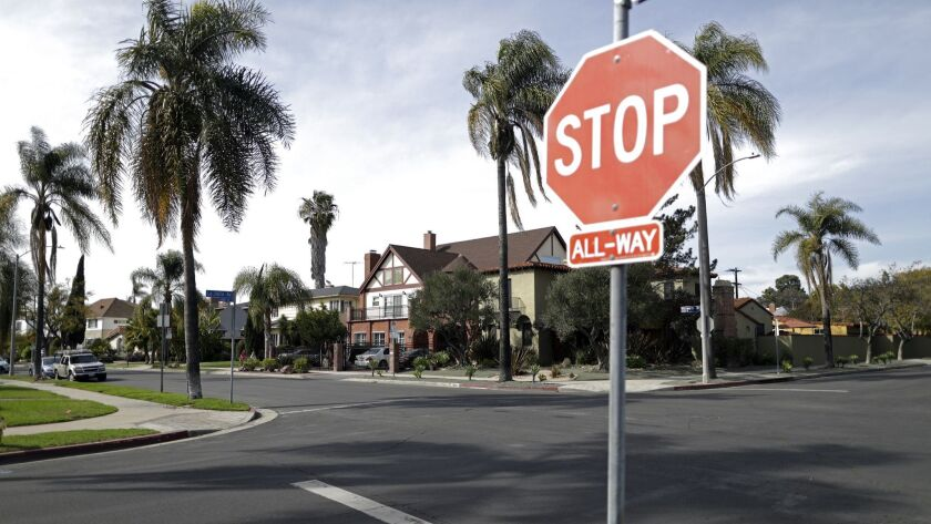 SB 827 would have made it possible for apartment and condo complexes to go up in many L.A. neighborhoods zoned for single-family homes, such as this South Carthay neighborhood.