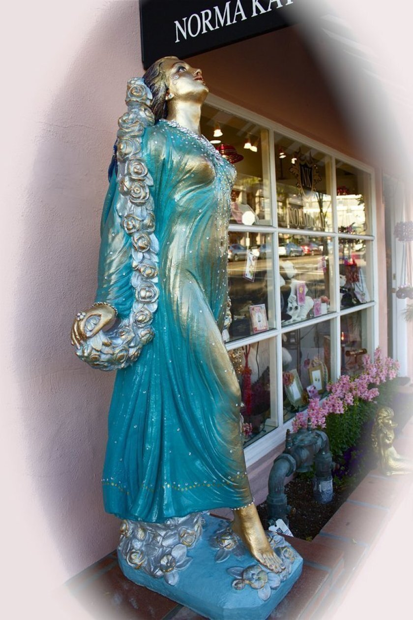 The fairy statue that once stood outside the Norma Kay store in La Jolla was destroyed.