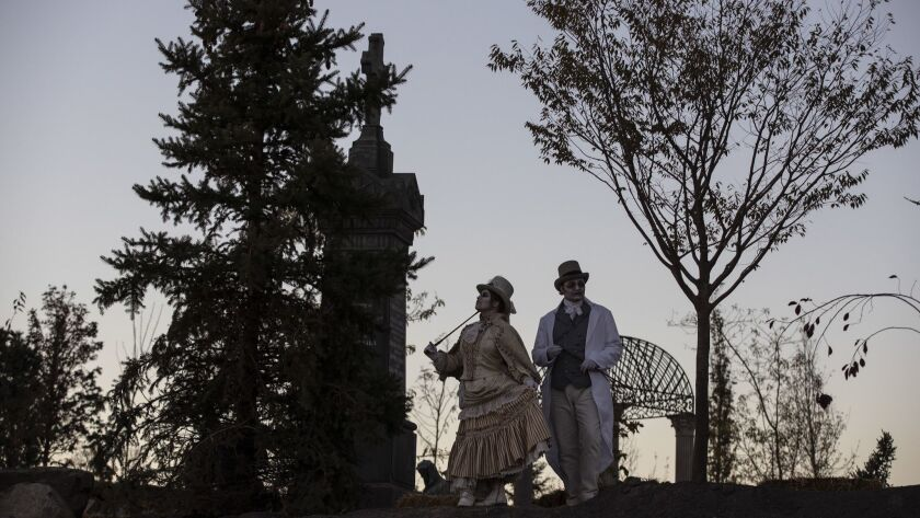 PLEASANT GROVE, UTAH -- SATURDAY, OCTOBER 20, 2018: Performers in the Victorian themed 'Loudon?s Re