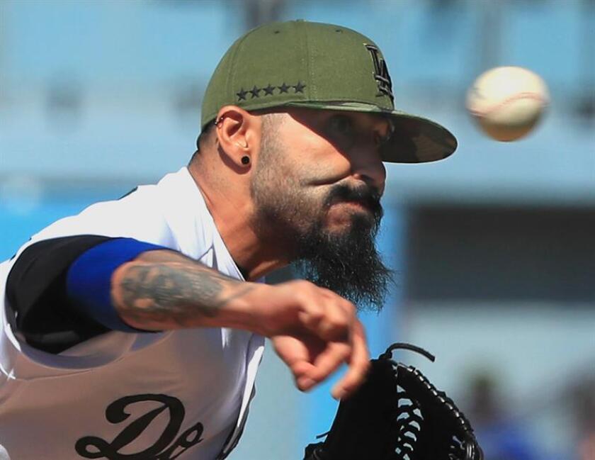 El lanzador estadounidense de origen mexicano Sergio Romo. EFE/Archivo