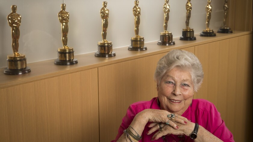 LOS ANGELES, CALIF. -- MONDAY, OCTOBER 24, 2016: 90-year-old English film editor Anne Coates, time