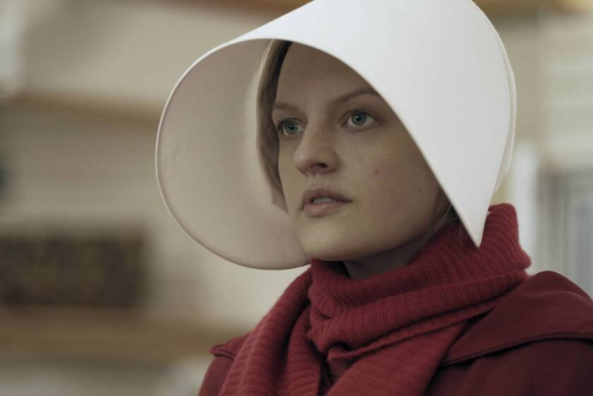 """The feminist dystopian drama """"The Handmaid's Tale"""" was one of this year's most celebrated new television series. Above: Elisabeth Moss."""