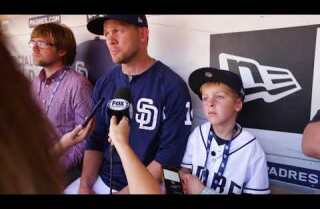 Levi Smith, a Padre for a day