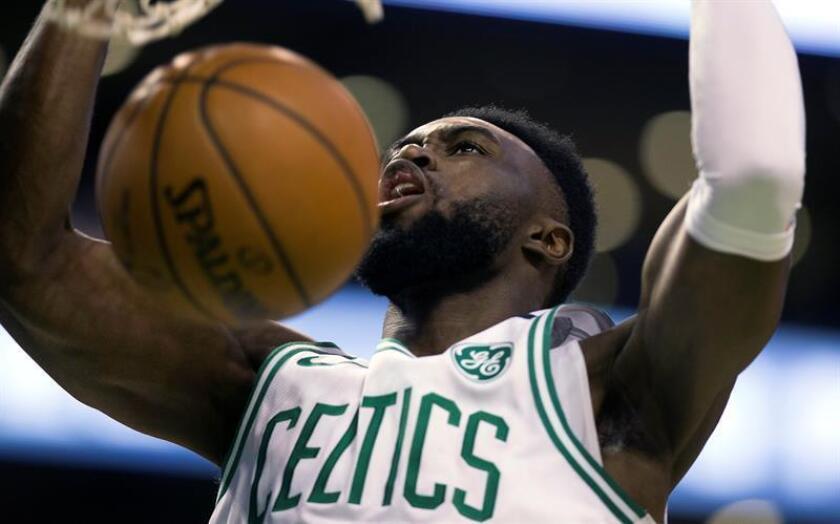 En la imagen, Jaylen Brown de los Celtics de Boston. EFE/Archivo
