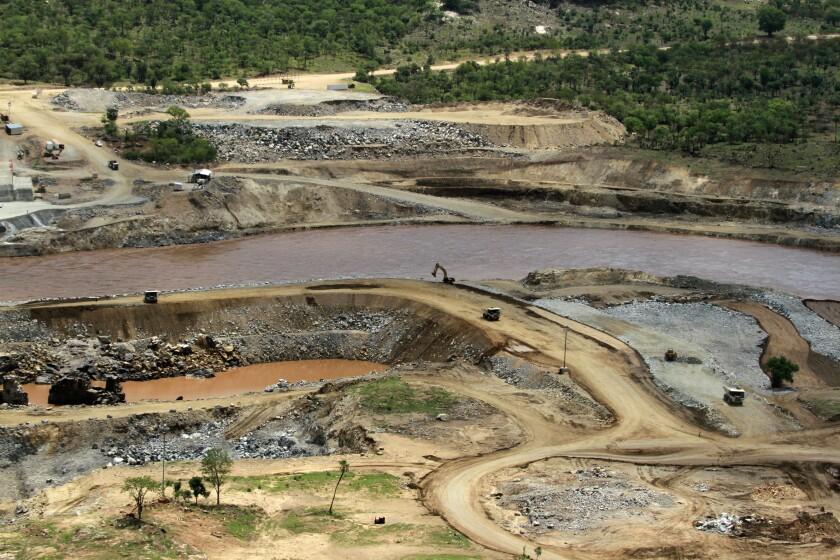 El lugar donde Etiopía planea construir una represa sobre el río Nilo, cerca de Assosa