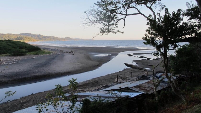 The Brito Inlet is seen on Dec. 26, 2013. Nicaragua says the waterway will be the probable Pacific coast outlet of a planned interoceanic canal.
