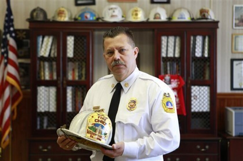 """District of Columbia Fire and Emergency Medical Services Chief Dennis L. Rubin poses for a portrait in his office in Washington, on Thursday, May 6, 2010. D.C. Rubin said an internal review of the Stephanie Stephens case revealed some """"abnormalities."""" Stephens died after paramedics refused to take"""
