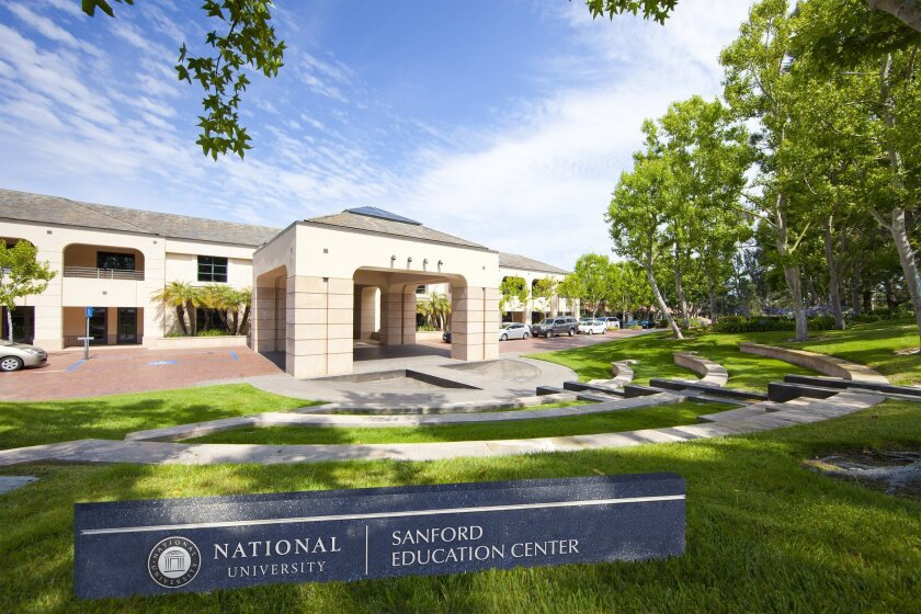 The new Sanford Education Center will be located in National University's Torrey Pines headquarters.