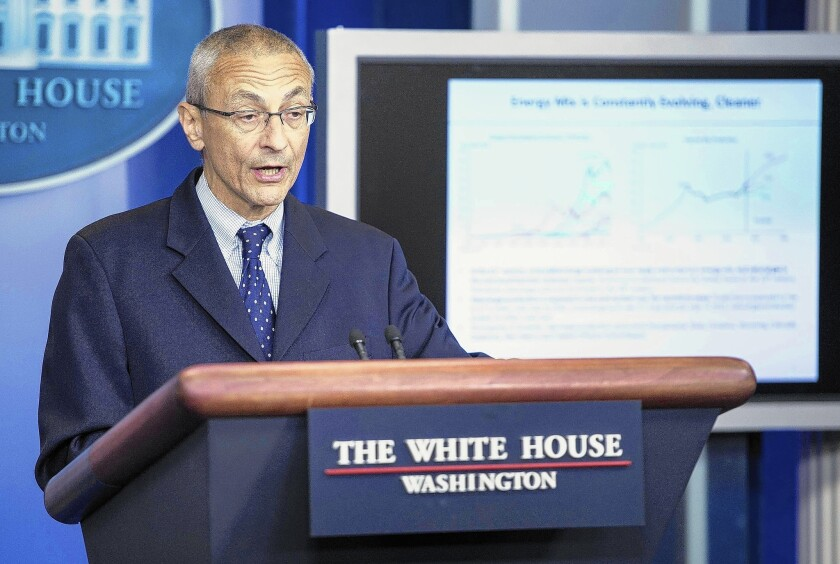"""The White House reiterated its call last week for greater protection of people's personal info -- two years after proposing a """"privacy bill of rights"""" that went nowhere in Congress. Above, spokesman John Podesta."""