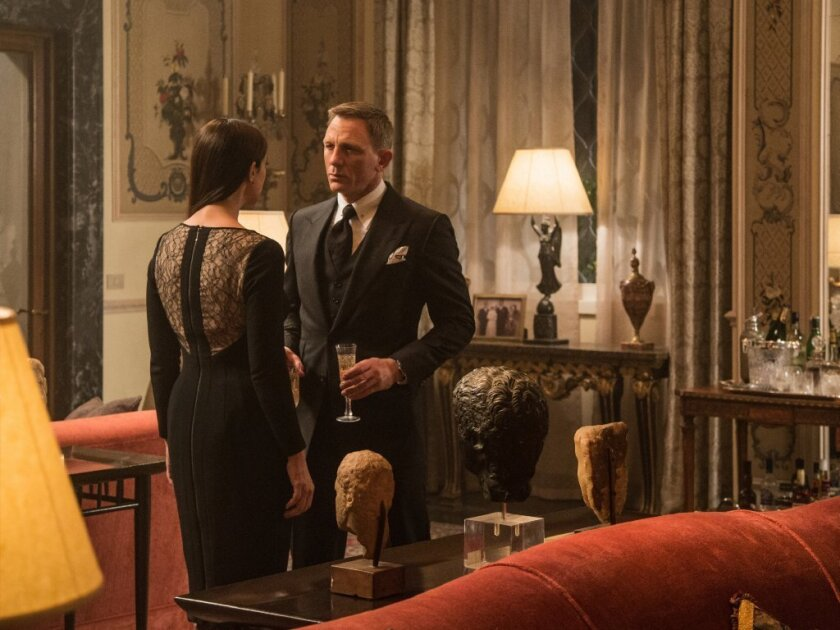 "Monica Bellucci, left, and Daniel Craig appear in a scene from the James Bond film ""Spectre."""