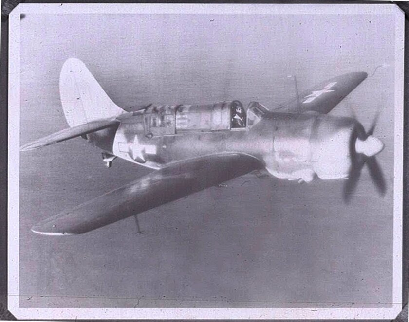 E.D. Frazar, who served in San Diego, flew an SB2C-4 Helldiver during his Navy service.