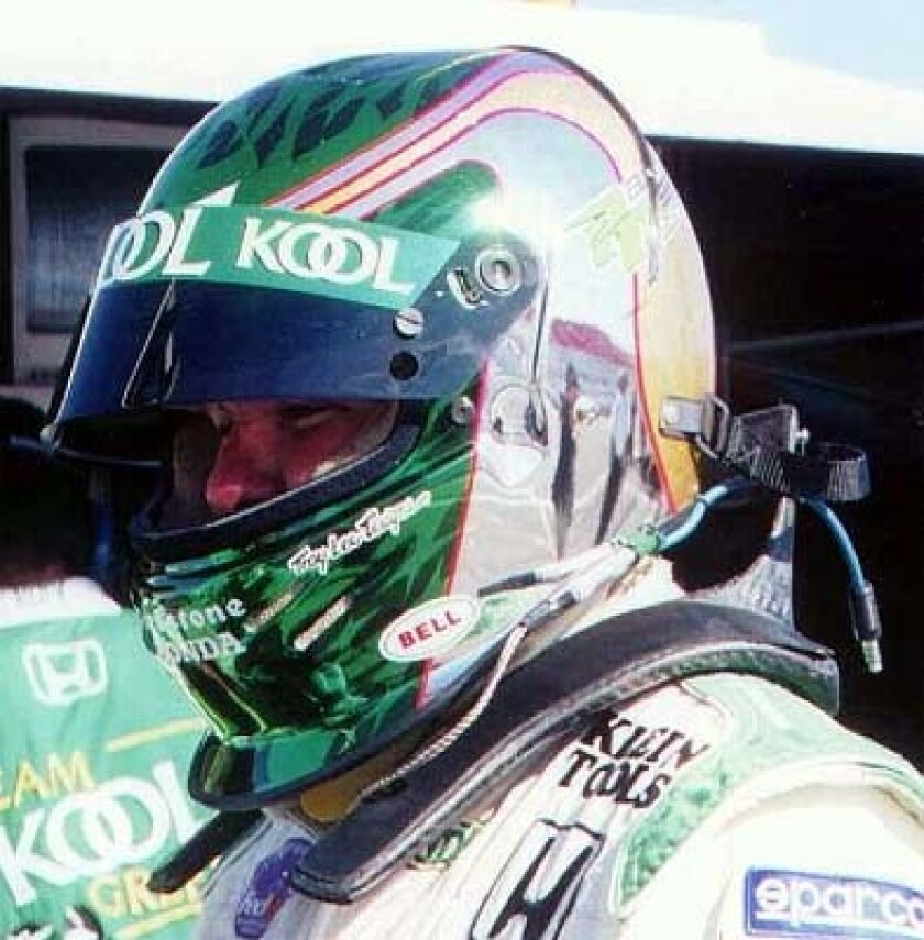 Prototype of a HANS device made for CART's Paul Tracy