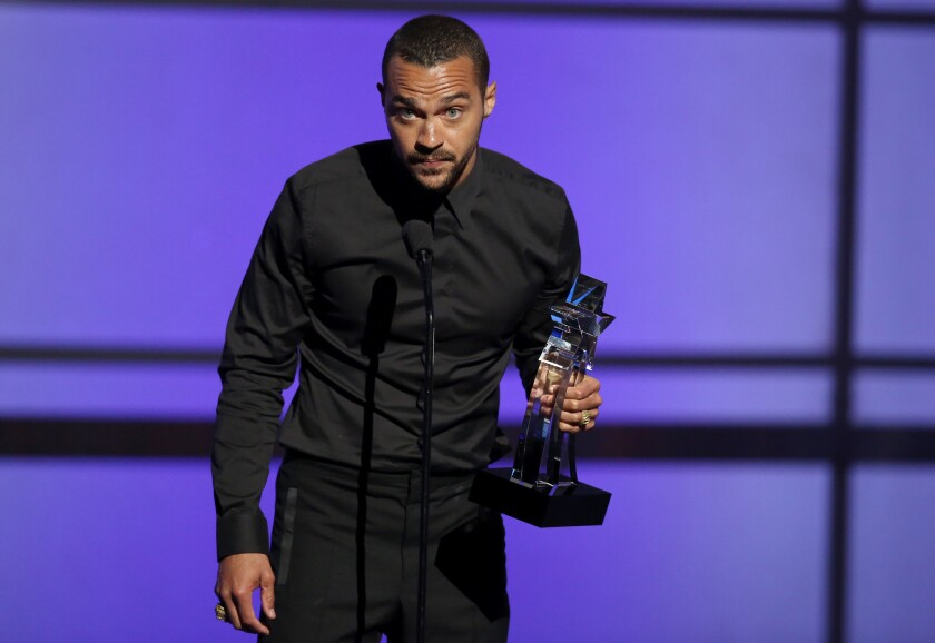 """We're done watching and waiting"": Jesse Williams making a powerful statement at the 2016 BET Awards."