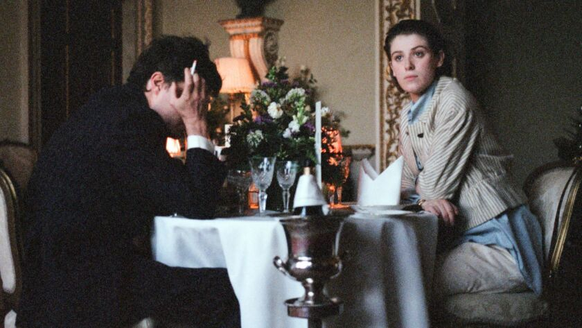 Tom Burke and Honor Swinton Byrne appear in <i>The Souvenir</i> by Joanna Hogg, an official selectio