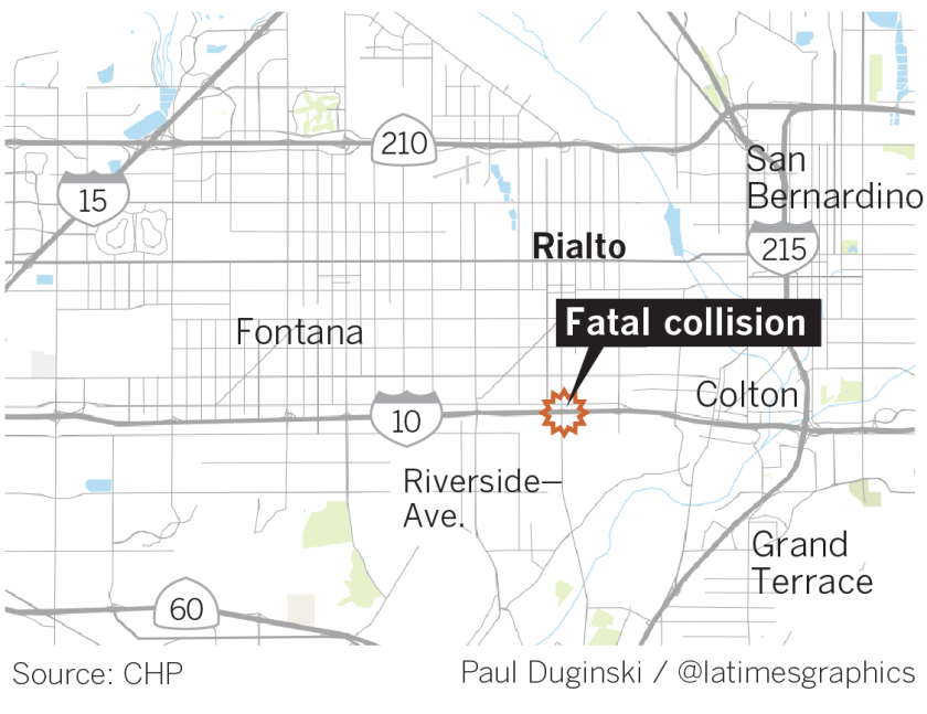 Fiery truck crash in Rialto leaves at least five dead and