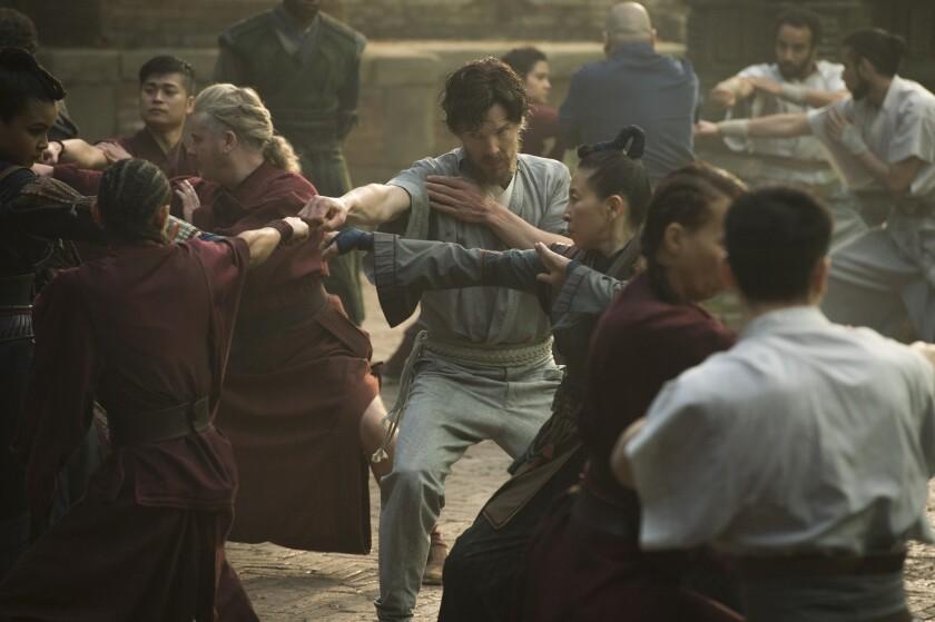 "Benedict Cumberbatch trains to become superhero Doctor Strange in ""Doctor Strange."""