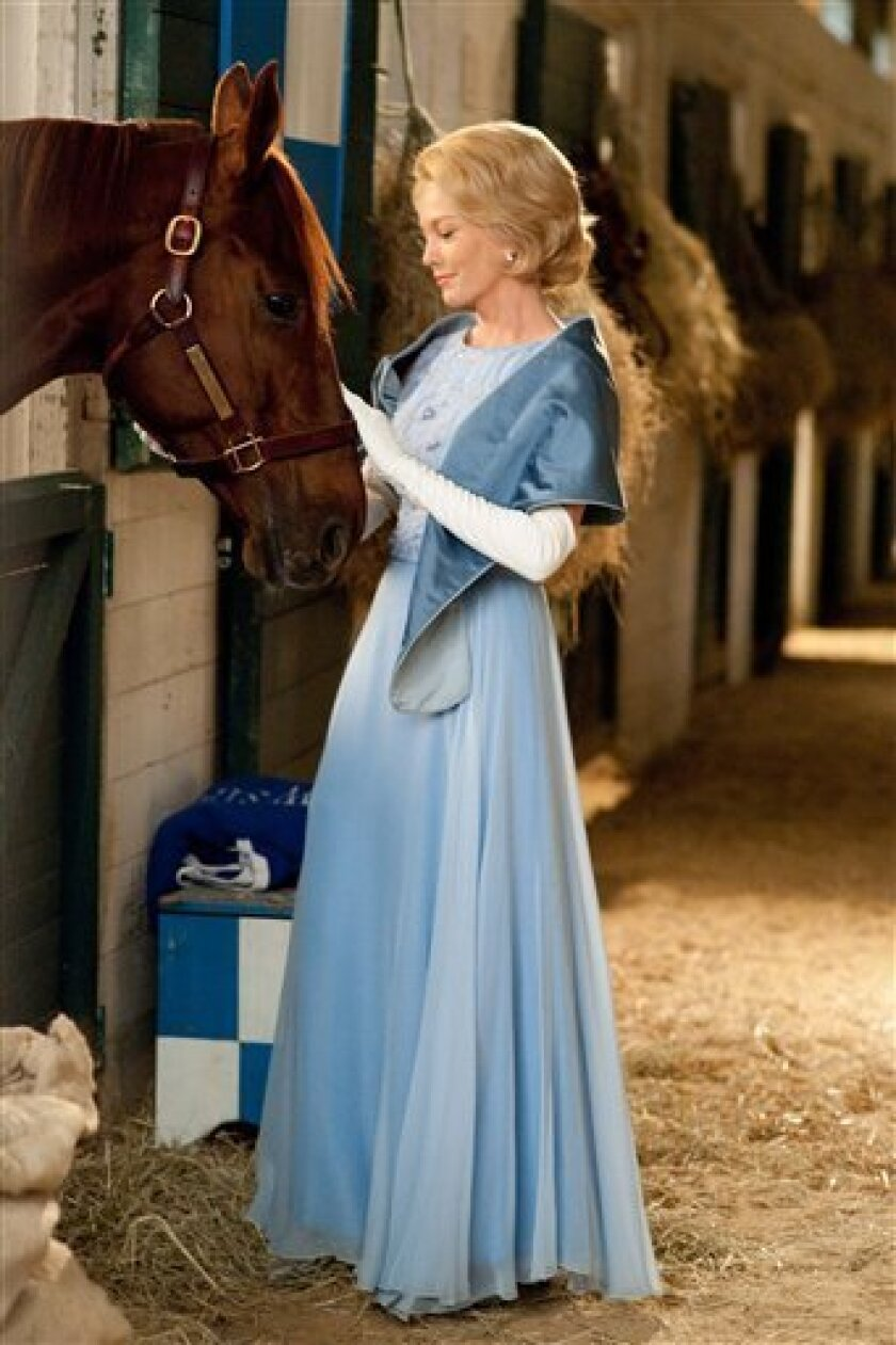 """In this publicity image released by Disney, Diane Lane is shown in a scene from, """"Secretariat."""" (AP Photo/Disney, John Bramley)"""