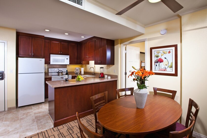 One of Winners Circle Resort's renovated two-bedroom suites.