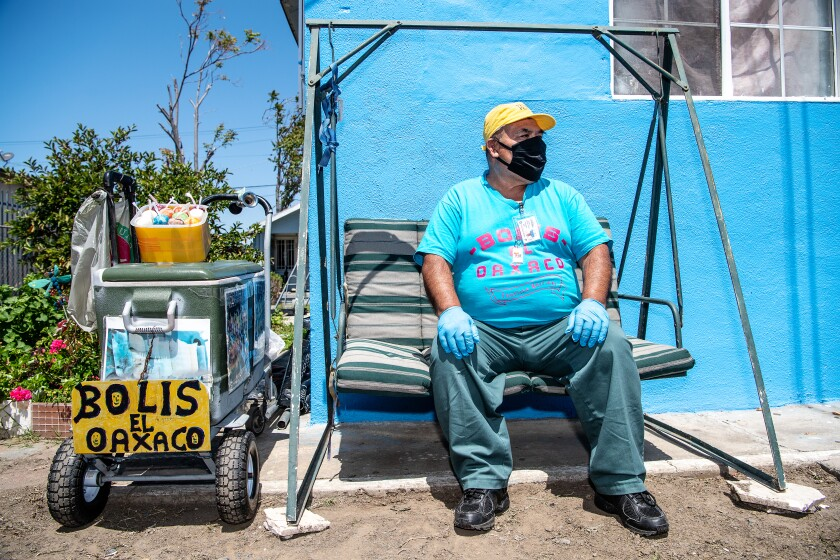 Faustino Martinez owns a pushcart business that sells mostly ice cream treats