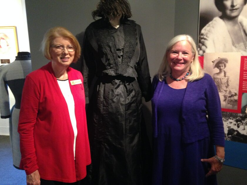 Maggie Brasch, left, past president of the San Diego Chapter of the Assistance League with Anne Salenger, national historian.