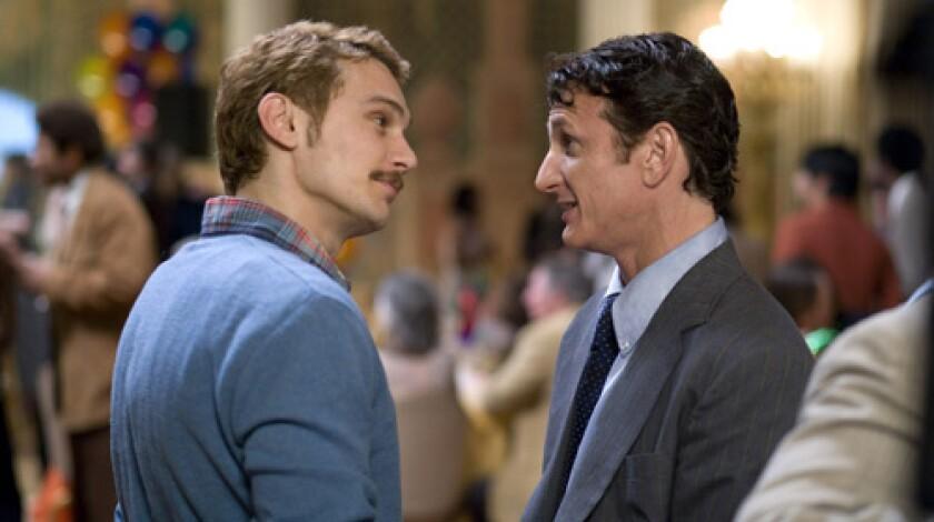 "James Franco, left, and Sean Penn in ""Milk"" (2008)"