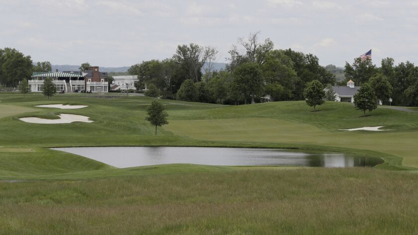 A view of Trump National Golf Club in Bedminster, N.J.