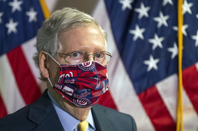 El líder de la mayoría en el Senado, el republicano de Kentucky Mitch McConnell