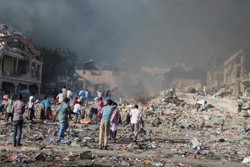 Fotografía de una explosión terrorista en Somalia. EFE/Archivo