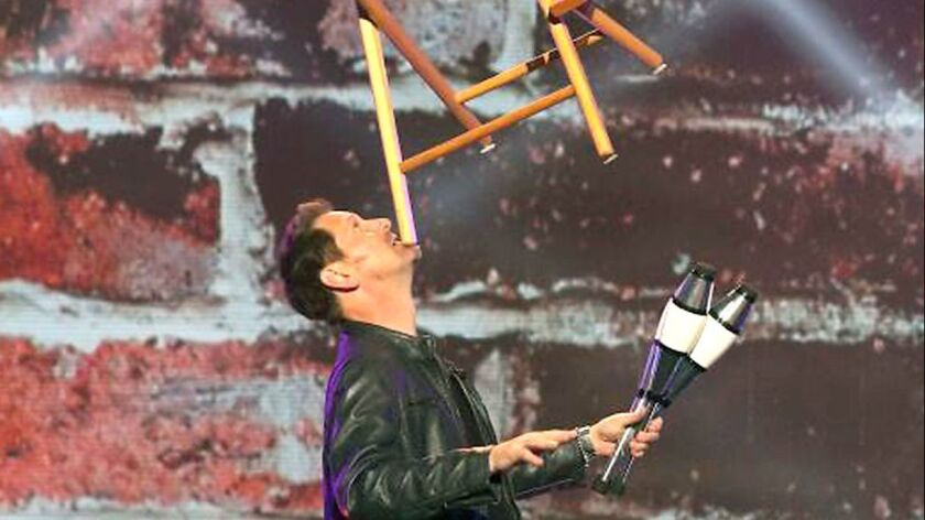 La Cañada resident and juggler/comedian/actor Ron Pearson will appear Friday night at 9 p.m. on the
