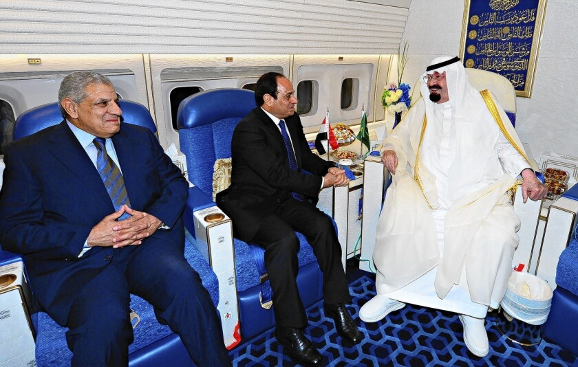 Saudi monarch visits Egyptian president