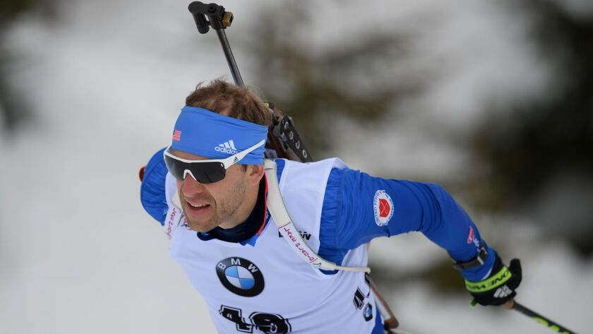 Lowell Bailey is favored to become the first American medalist in Olympic biathlon history.