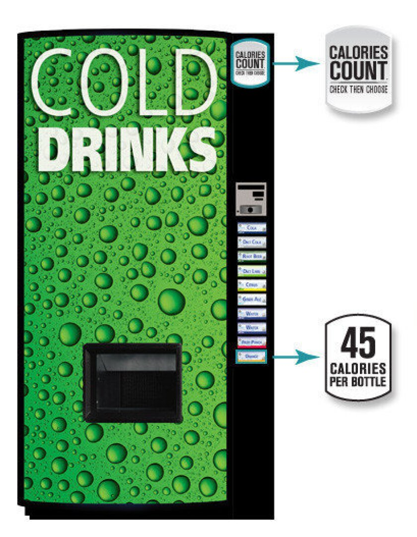 New soda vending machines to list calorie counts