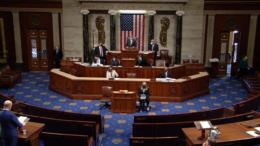 Una sesión de la Cámara de Representantes para acusar al presidente Donald J. Trump