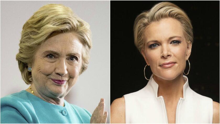 La candidata presidencial demócrata, Hillary Clinton, y Megyn Kelly, de Fox News (Andrew Harnik/Associated Press, Victoria Will/Invision/Associated Press).