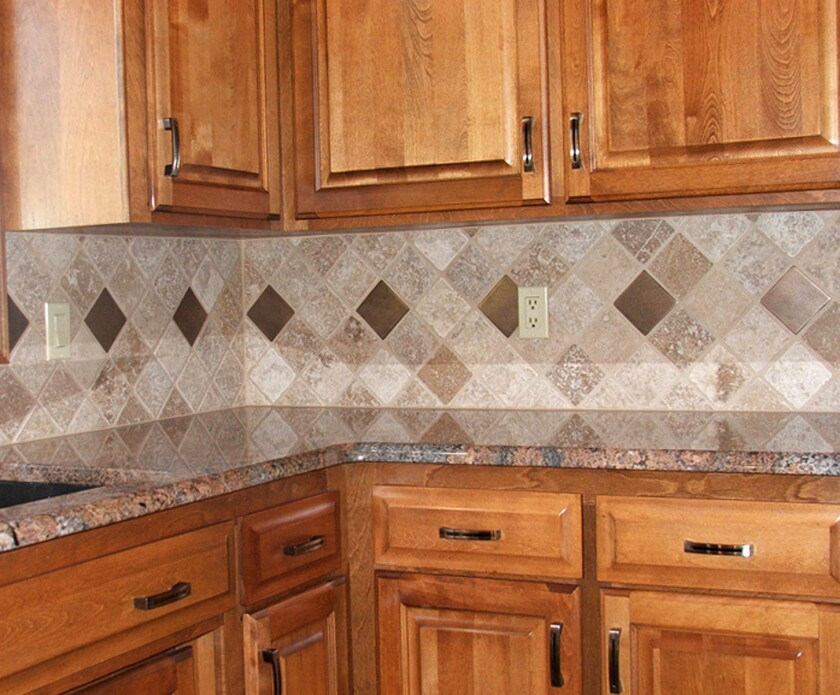 Ceramic tile does a stylish job of protecting the wall.