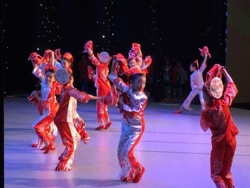 Chinese Dance Academy of California students perform in competition.