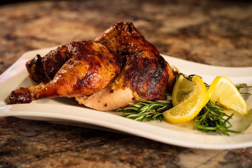The newly remodeled Temptation Food Walk at Pechanga Resort & Casino features fresh rotisserie chicken to eat there or take home.