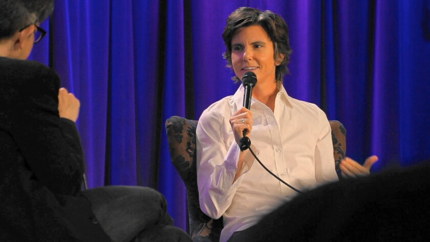 """Tig Notaro is seen performing stand-up in the documentary """"Tig."""""""