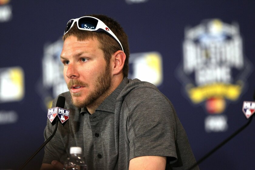 American League starting pitcher Chris Sale speaks about how the death of Tony Gwynn convinced him to give up tobacco during the press conference to announce starting pitchers for the 2016 All-Star Game.